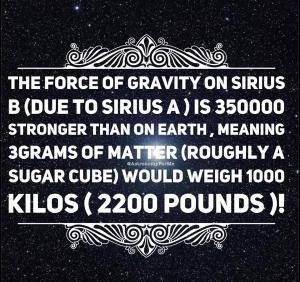 Sirius Gravity
