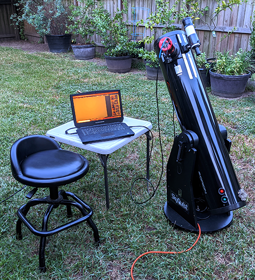 TieDyeAstronomer Drift-scanning setup